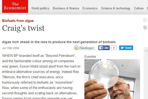 ExxonMobil goes for algae bio-fuel