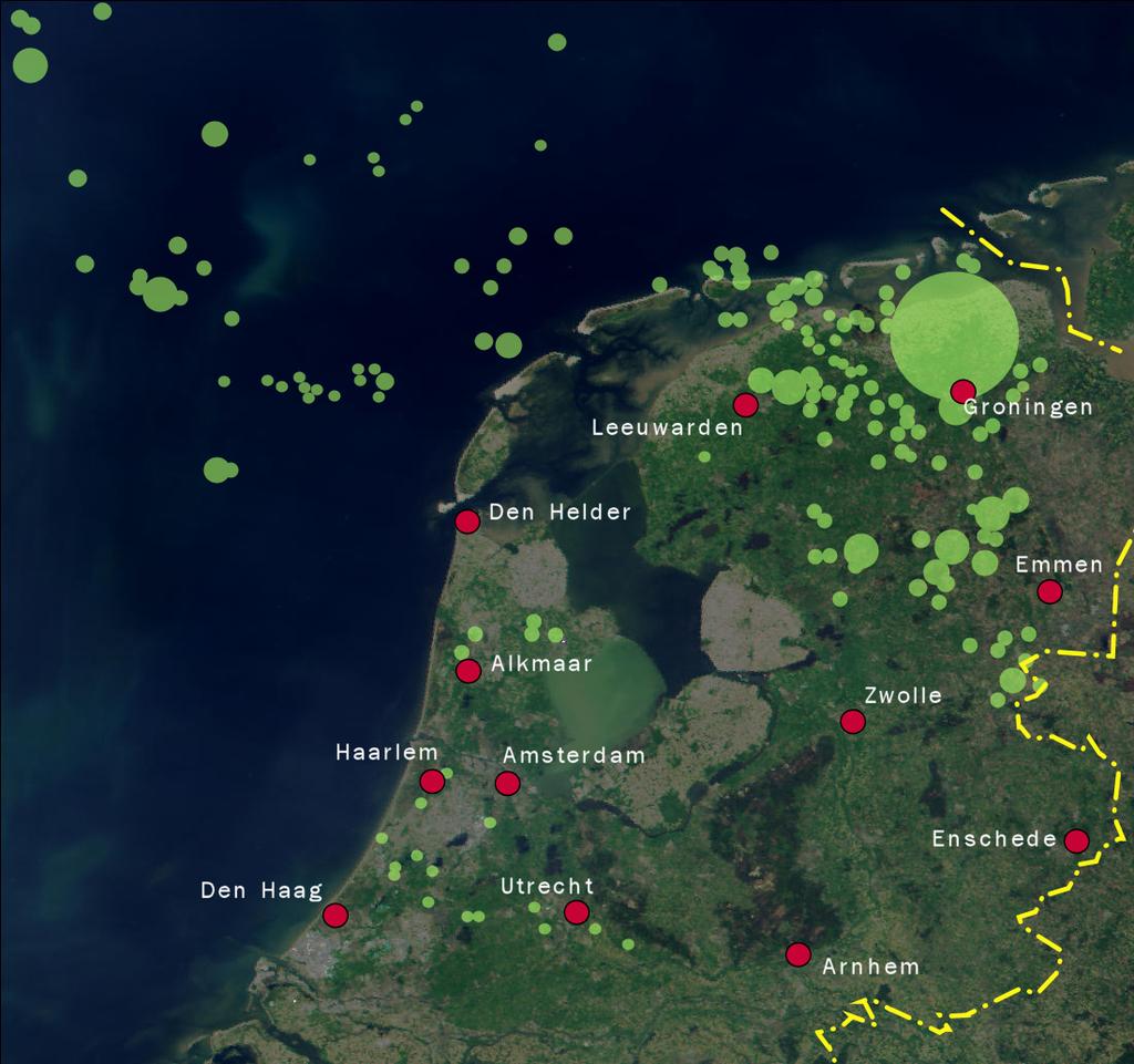 representation of dutch gas fields