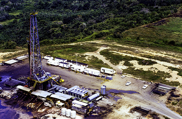 Shale gas drilling site